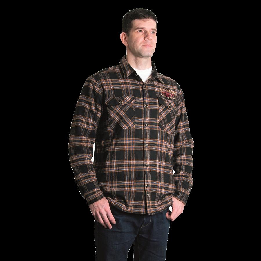 ALASKAN fisherman's shirt with fur